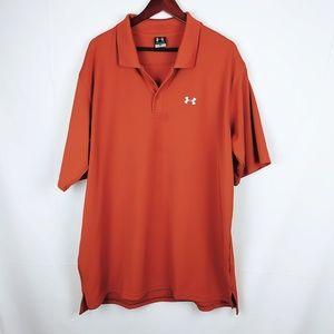 Under Aemour golf polo size xxl mens burnt orange